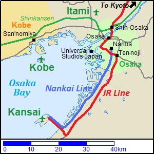 map of kansai airport Narita Haneda Kansai Chubu International Airports In Japan map of kansai airport