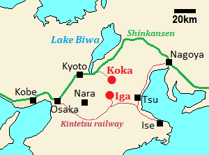 Position of Koka and Iga
