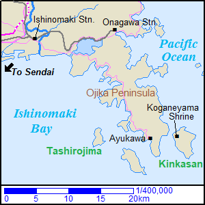 Map around Ojika Peninsula