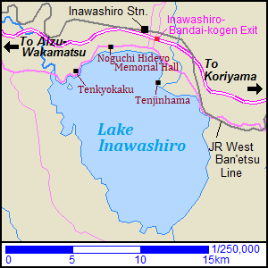 Map of Lake Inawashiro