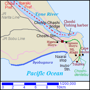 Map of Choshi