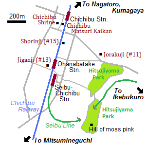 Map of Chichibu city
