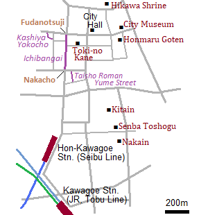 Map of Kawagoe city