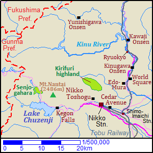 Map of Nikko city