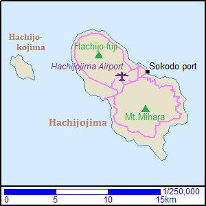 Map of Hachijojima