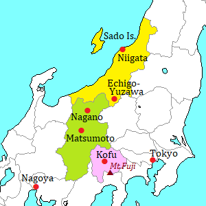 Koshinetsu area map