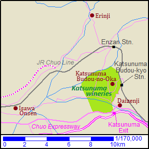 Map of Koshu city