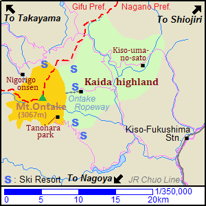 Map of Mount Ontake