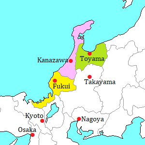 Hokuriku area map