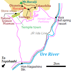 Map of Horaiji