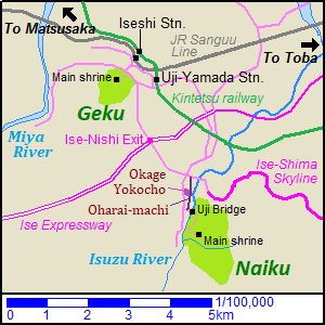 Map of Ise Shrine