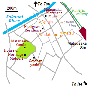Map of Matsusaka