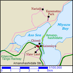 Map of Amanohashidate