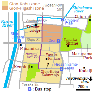 Map around Gion