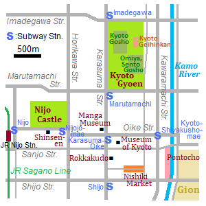 Map of Rakuchu
