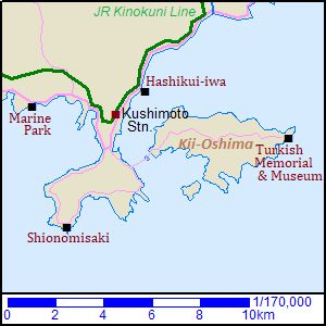 Map of Kushimoto