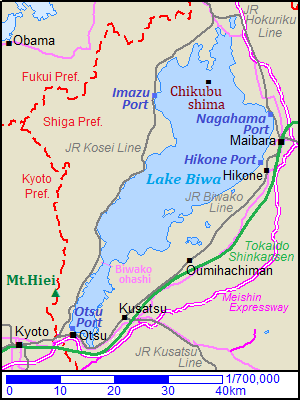 lake biwa japan map Lake Biwa Shiga Prefecture Kansai Region Japan Travel Guide lake biwa japan map