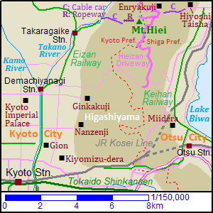 Map of Mount Hiei