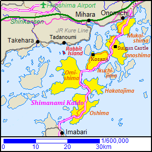 Map of Shimanami-kaido