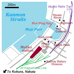 Map of Mojiko Retro