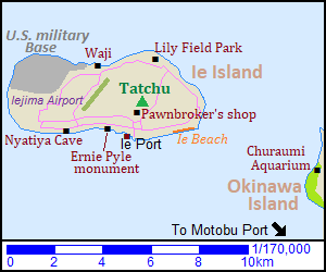 Map of Ie Island