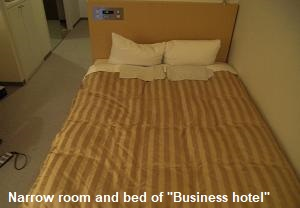 Narrow room in City Hotel (Business Hotel)