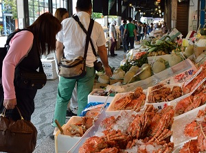 Crab shop in Nijo Market