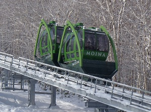 Small cable car to the top of Mt.Moiwa
