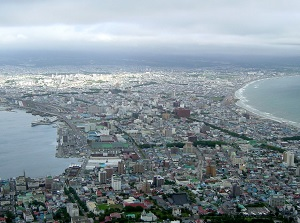 Scenery of Hakodate city from Mt.Hakodate
