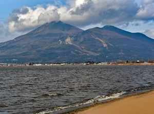 Lake Inawashiro and Mt.Bandai