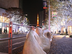 Illumination of Roppongi Hills in winter