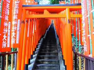 Inari approach in Hie Shrine