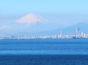View of Yokohama at Umi-hotaru in winter
