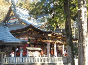 The hall of worship of Mitsumine Shrine
