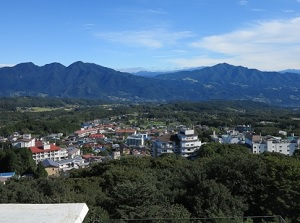 Scenary from the observatory in Ikaho
