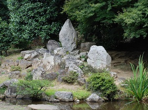 Old Japanese garden in Daizenji temple
