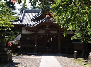 Kaiko Shrine on the ruin of castle tower