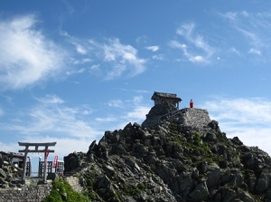 Oyama shrine on Mount Tateyama