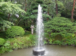 A fountain in Kenrokuen