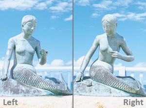 Two statues of mermaid