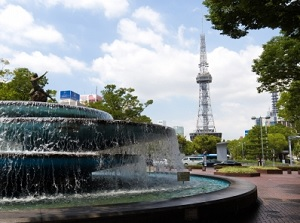 Nagoya TV Tower from Hisaya Odori Park