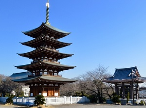 Five-storied pagoda in Nittaiji