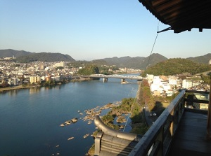 Kiso River from Inuyama Castle