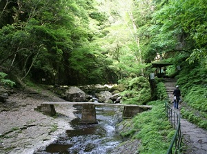 Walking trail of Akame 48 Waterfalls