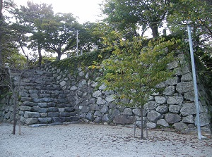 Ruin of castle tower of Matsusaka Castle