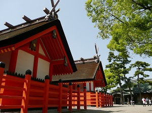 The 3rd and 4th shrines in Sumiyoshi-taisha