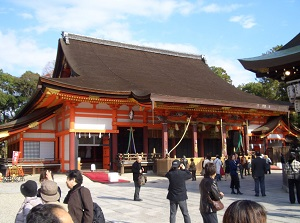 Honden of Yasaka Shrine