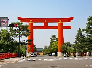 Big Torii gate of Heian Shrine