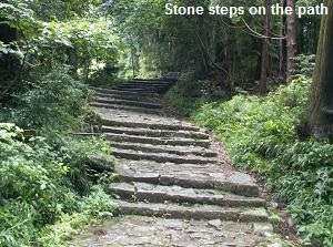 Stone steps on the path of Kumano Kodo