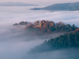 Bitchu-Matsuyama Castle on Sea of clouds